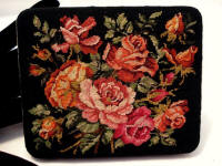 Austrian 1940's petit point cigarette vanity purse case