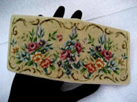 Austrian petit point mirrored multi function wallet 1930 1940