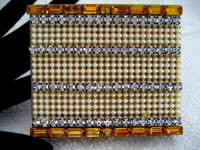 Vintage 1940 1950 pearl and multiple rhinestone jeweled covered cigarette case