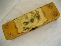 Antique celluloid scenic glove box 1890 1900