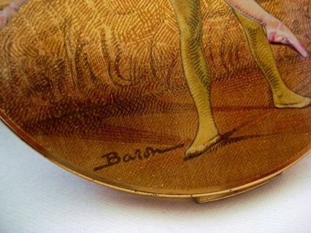Stratton compact ballet dancers signed Baron 1950's