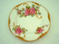 French Limoges cabinet plate in stunning roses