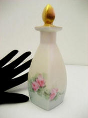 Antique porcelain hand painted roses perfume bottle made in Germany