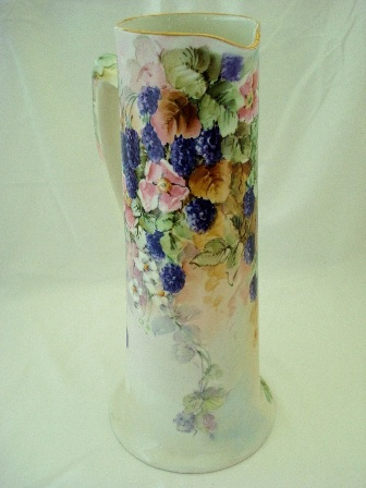 Made in Austria hand painted tall blackberry tankard