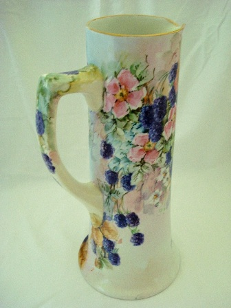 Nearly 14 inch tall hand painted tankard from Austria