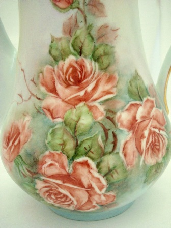 Vintage 1960 hand painted roses coffee pot