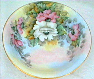 Bavarian hand painted vegetable sized bowl