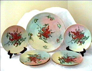 Bavaria Germany cake set large charger and plates