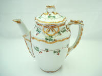 Antique Ginori porcelain teapot made in Italy