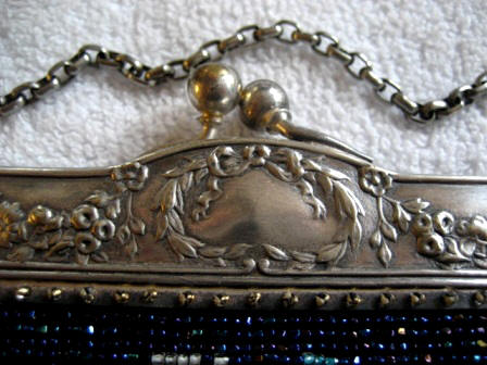 Silver plated Art Nouveau embossed purse frame
