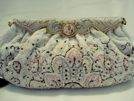 Charbet beaded evening bag 1930 made in France