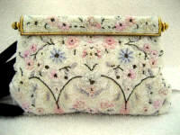Vintage 1930 1940 French beaded evening purse all soft pastel beading