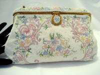 Helene Dale French beaded embroidered evening purse from Paris