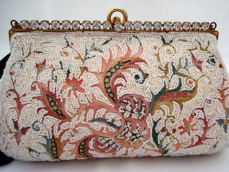 Josef French designer beaded embroidered evening purse