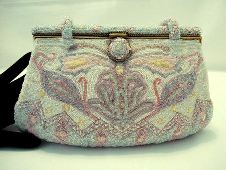Spritzer and Furhmann French pastel beaded evening purse
