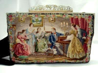 Vintage English petit point purse 1800 stitches to the square inch