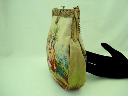 Aubusson tapestry antique French purse