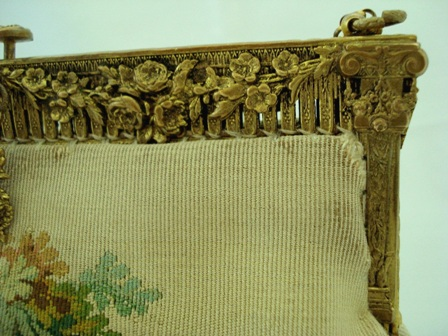 French antique Aubusson tapestry handbag