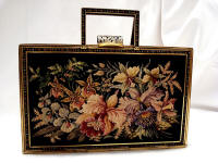 Maria Stransky petit point boxy purse with accessories