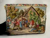 Michel Swiss vintage scenic petit point purse