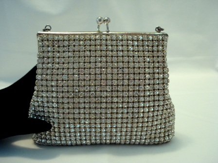 Vintage 1940 West Germany rhinestone covered evening purse