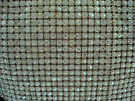 Stunning faceted glass rhinestone purse 1940 vintage