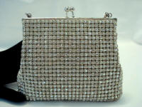 Vintage 1940 rhinestone covered evening purse made in West Germany