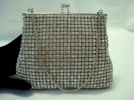 Vintage rhinestone purse made in West Germany