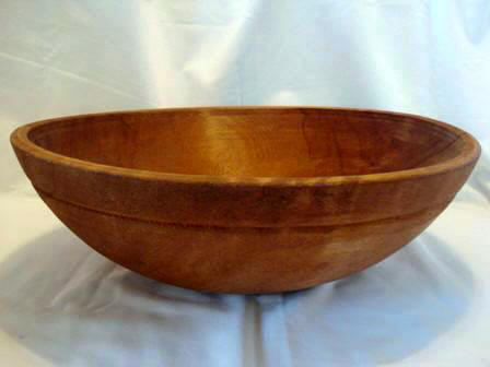Antique dough bowl 18 inch large hard wood maple
