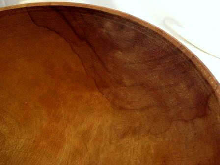 Solid hard wood late 1800's dough bowl large 18 inch