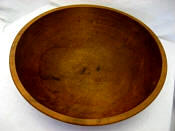 Large Antique dough bread bowl late 1800's Michigan hand tuned bowl