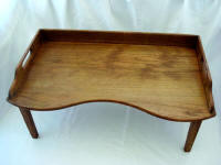 Antique oak footed breakfast bed tray