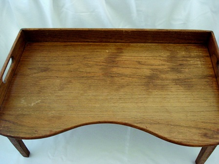 Antique early 1900's footed breakfast bed tray