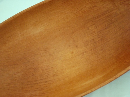Munising 1920's marked 24 inch oval dough bowl trencher