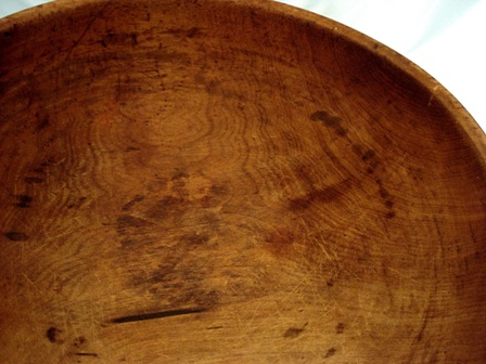 Extra large antique dough bowl 19 inch diameter hard wood